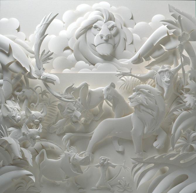 Скульптуры из бумаги от Джефа Нишинаки (JEFF NISHINAKA) 6