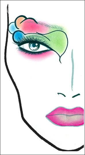 Схемы нанесения макияжа для MAC Colour Craft.  Прочитать целикомВ.
