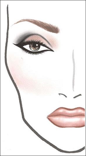 Skin.  Foundation: Mineralize Satinfinish SPF 15 Foundation with 188 Brush.  Схемы нанесения макияжа для...