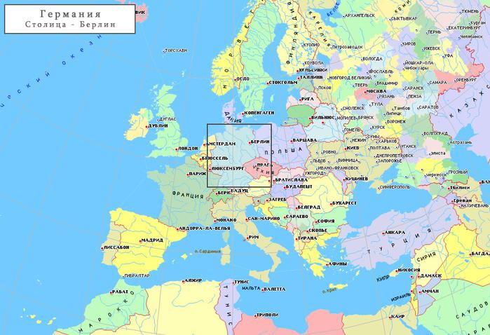 Где находится германия карта