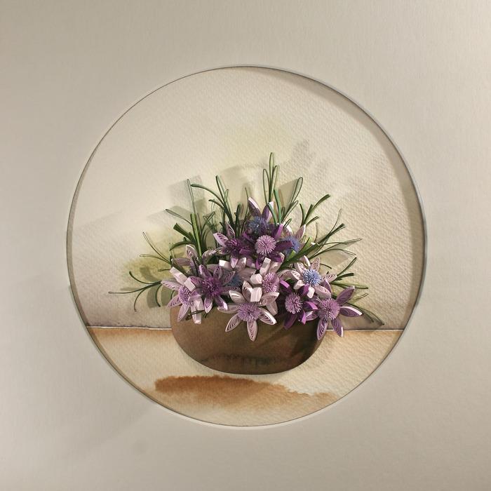 Квиллинг букеты цветов картинки 2