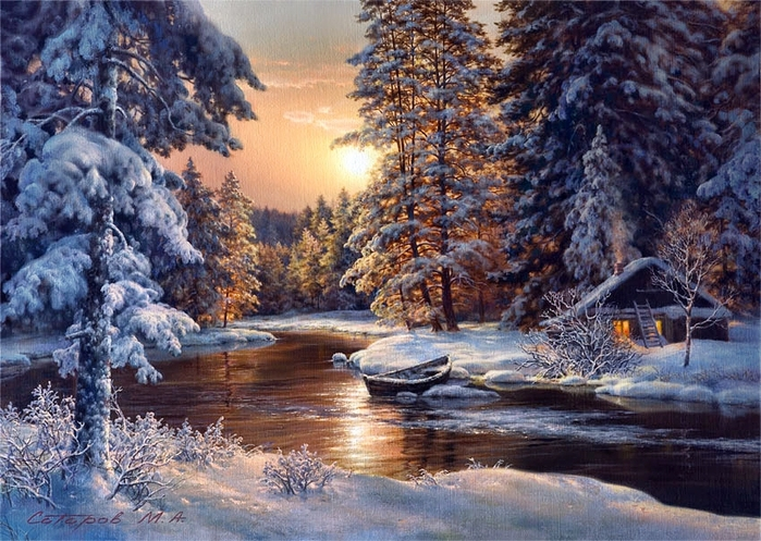 мои анимации. анимашка. картинка. изображение.  GIFКА. зима. открытки. пейзаж.  Зимний лес.gif. гифка.
