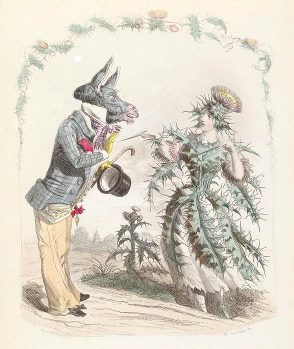 Серия сообщений.  JULIA_78.  Цитата сообщения. цветочные композиции Grandville в образе женщины.