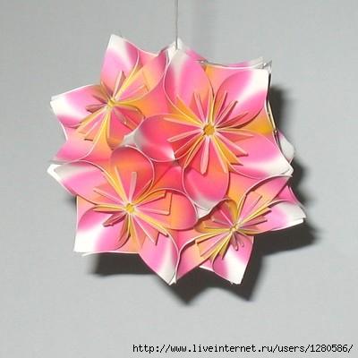 бумажные цветы в технике