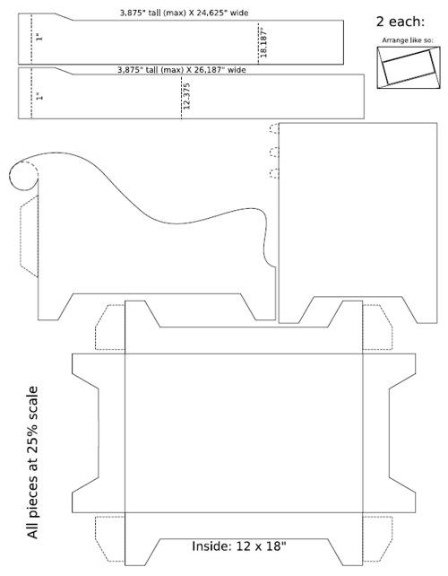 Мебель для кукол схемы