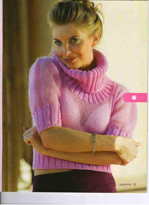 свой цитатник или сообщество!  Вязание, розовый пуловер из Susanna 2008_03.  Прочитать целикомВ.