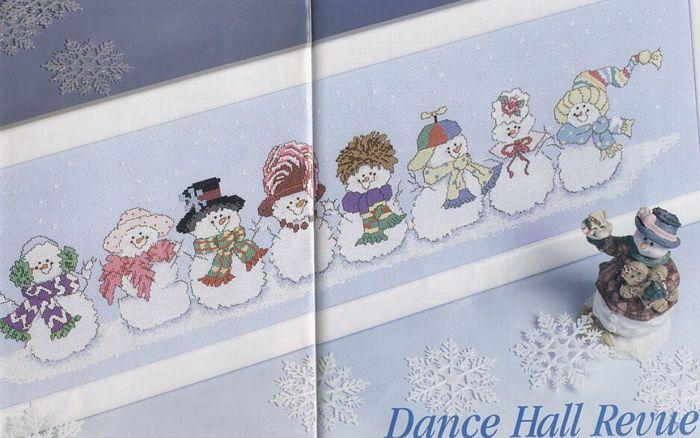 Снеговик - схемы вышивки