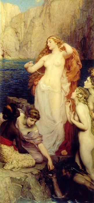 ...оскопленного Кроном Урана, которая попала в море и...