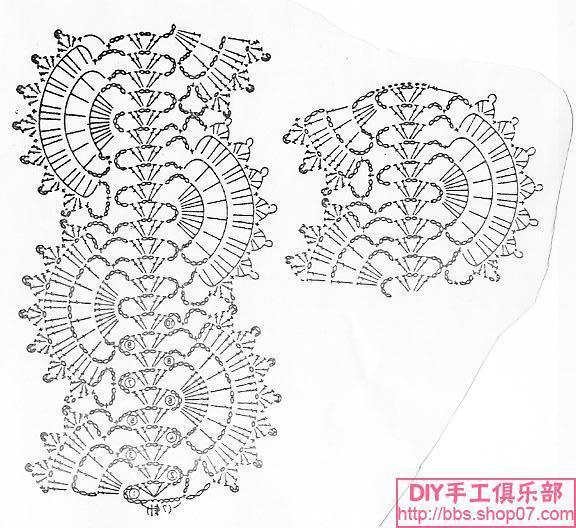 Схема Вязания Ажурного Шарфа