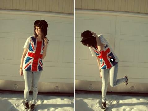 Майки - Стильные женские футболки с британским флагом.