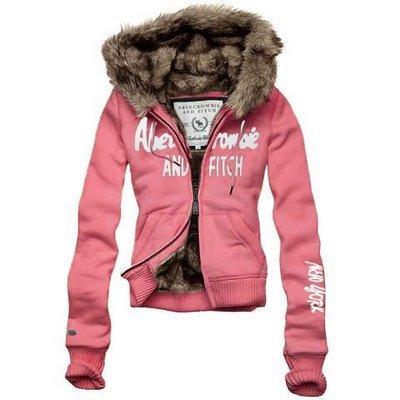 Куртка женская ABERCROMBIE & FITCH артикул KS02-63 Цена 4600 Материал: Текстиль Цвет : Розовый.