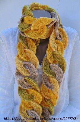 Чудесный шарф из колец.