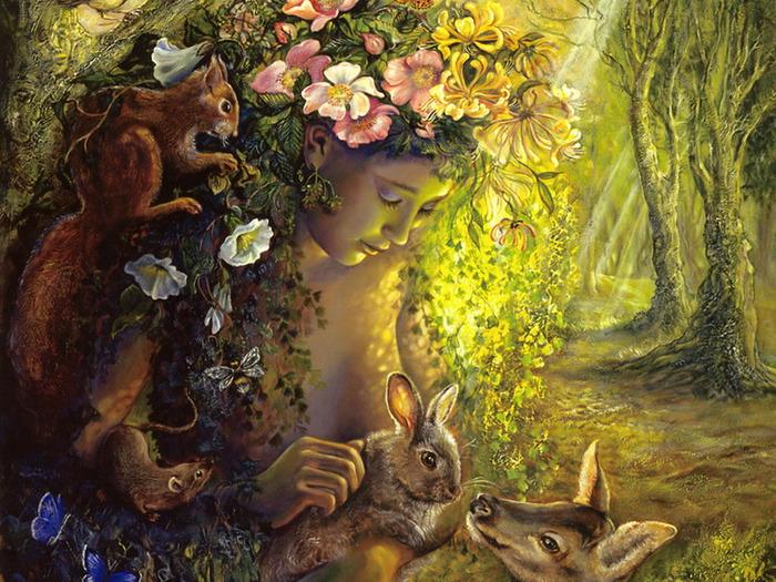 Скачать обои фэнтези, дриада, нимфа, покровительница деревьев, Josephine Wall 800x600.