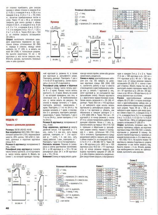 Вязание спицами платьев и туник схемы и описание 882