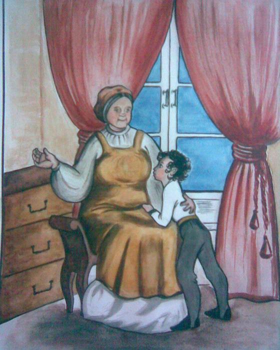 Нарисовать рисунок с няней