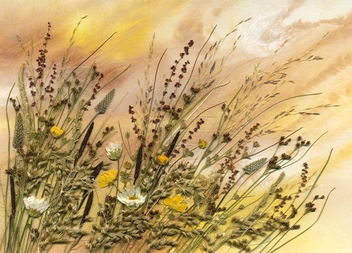 Засушены: соцветия пастушьей сумки, листья пустырника, бутоны черемши...