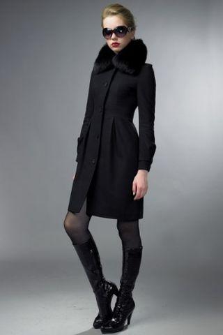 Пальто с меховым воротником фото (26 фото ) -