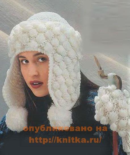 вязание шапки описание и схемы. выкройки вязаных шапок ушанок мужских.
