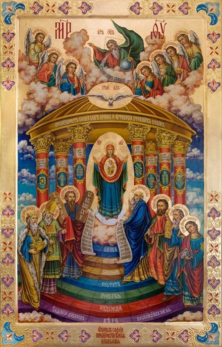 В качестве примера рассмотрим икону София Премудрость.