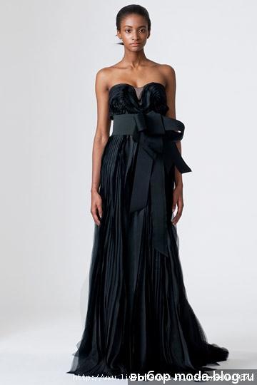 Черное свадебное платье от Vera Wang.