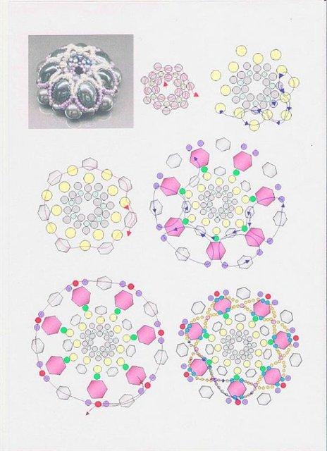 схема плетения броши из бисера - Уголок конструктора.