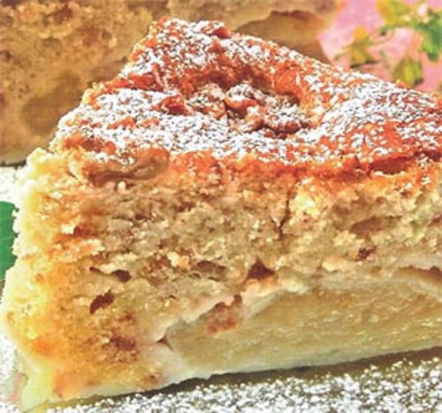 торты рецепты бисквит яблочный