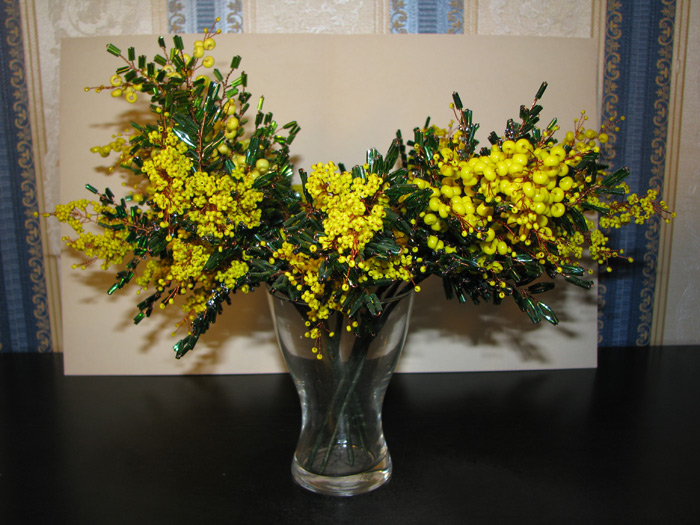 ПРОДАЮ СУВЕНИРЫ, ПОДАРКИ (цветы и деревья из бисера. мои бисернюшки.