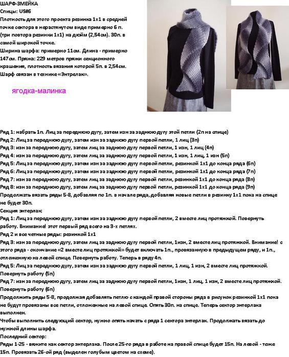 Вязание шарфа спицами схема и описание вязание 11