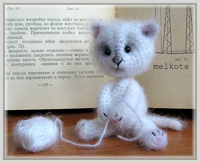 Вязаный кот Мурзик Синий на HandMade-Gifts.ru - купить - сделано с.