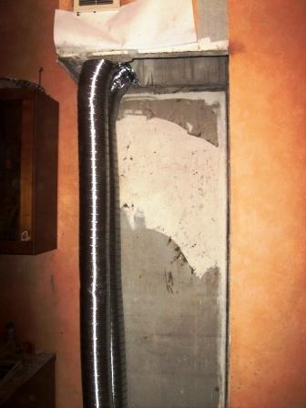 Восстановление воздуховода на кухне