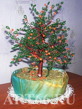 плетение из бисера деревьев со схемами - Вышивка бисером.