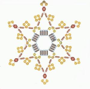 """Схемы новогодних снежинок из бисера, стекляруса и бусинок.  Нашла на интересных  """"бисерно-рукодельных """" сайтах..."""