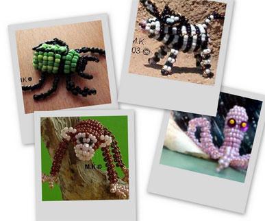 Животные из бисера. с сайта http://pagesperso-orange.fr/mk.perles%20/indexfr.htm. много.  Нашла на одном сайте.