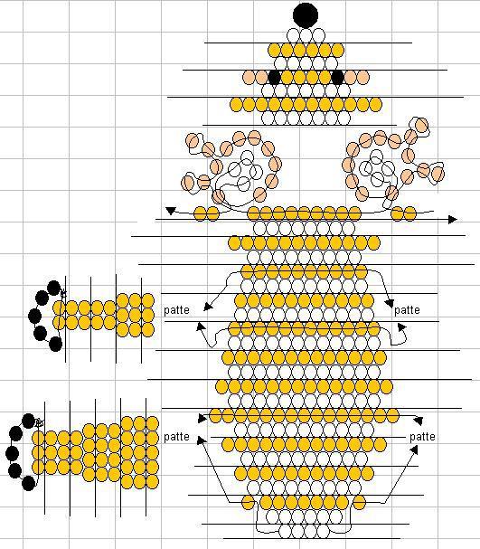 b Бисероплетение и рукоделие схемы поделок из бисера и бусин.
