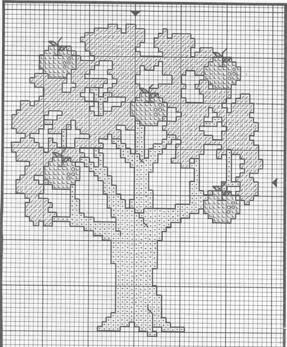 Вышивка схема денежного дерева.