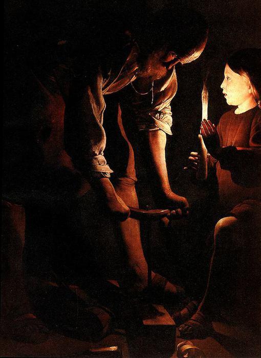 Жорж де Латур. Св. Иосиф-плотник. 1640-е гг. Париж, Лувр.