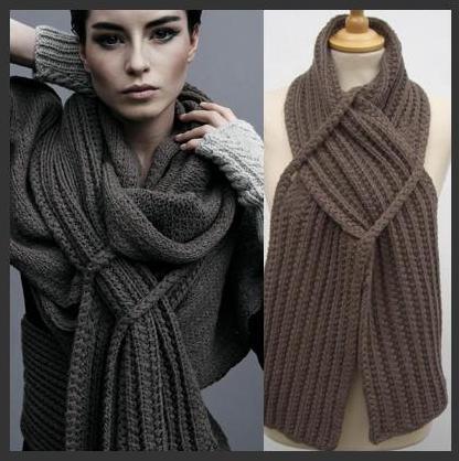 Вязание спицами: модный шарф с описанием.
