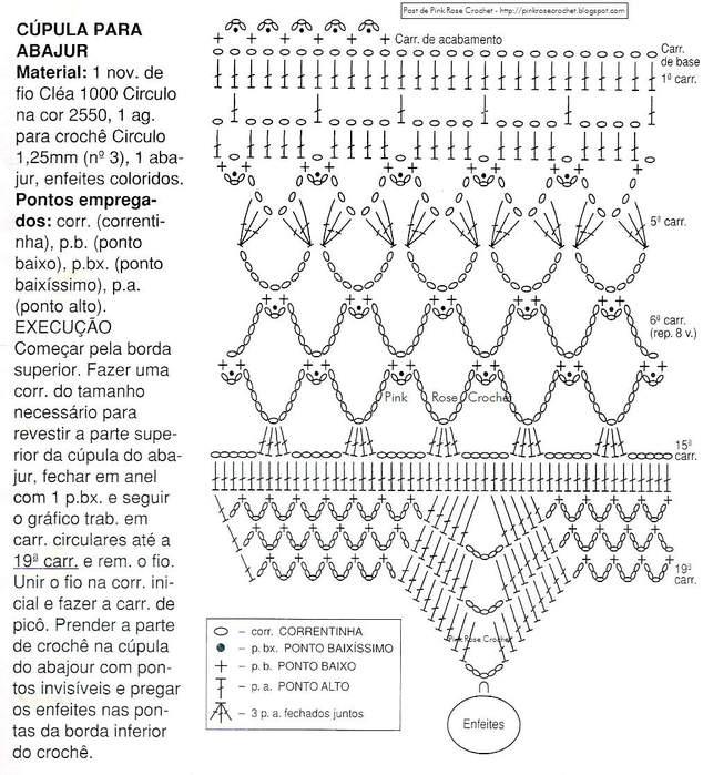 Вязание крючком для абажур 806