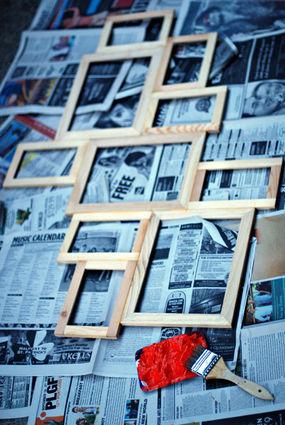 Как покрасить рамки для фото