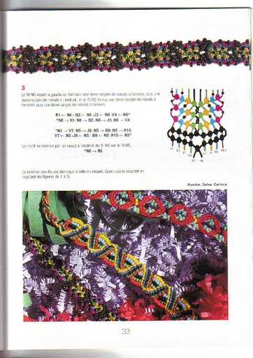 схема плетения макраме.