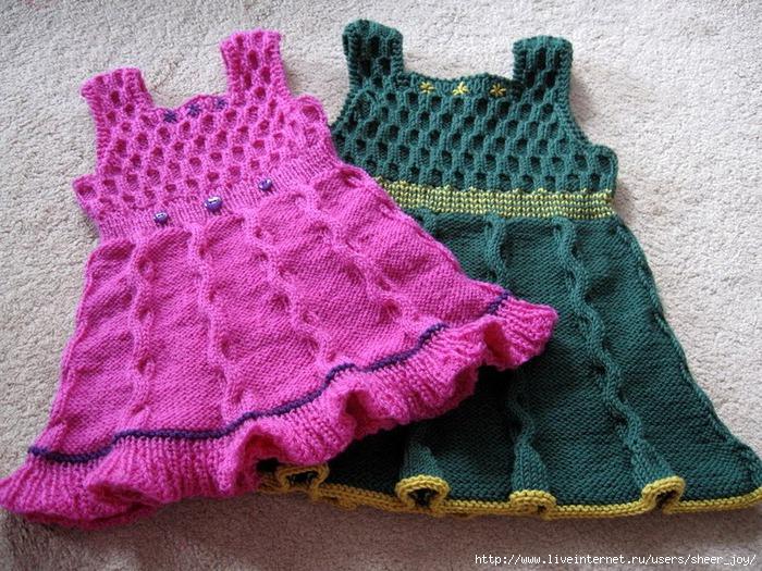 Описание вязание крючком платья для девочки 3-х лет.