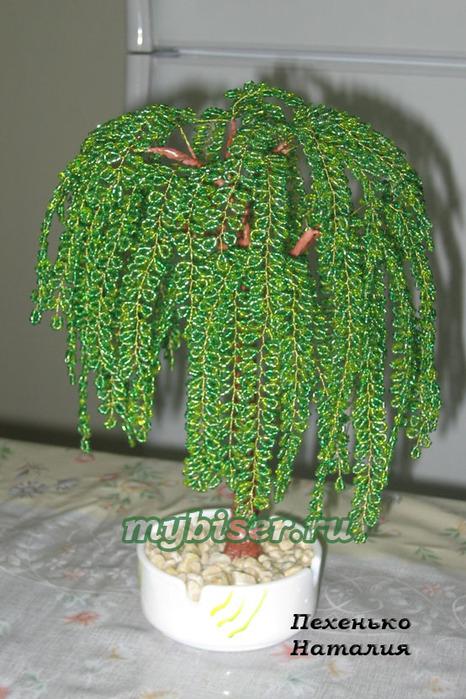 Деревья из бисера- 55 шт.