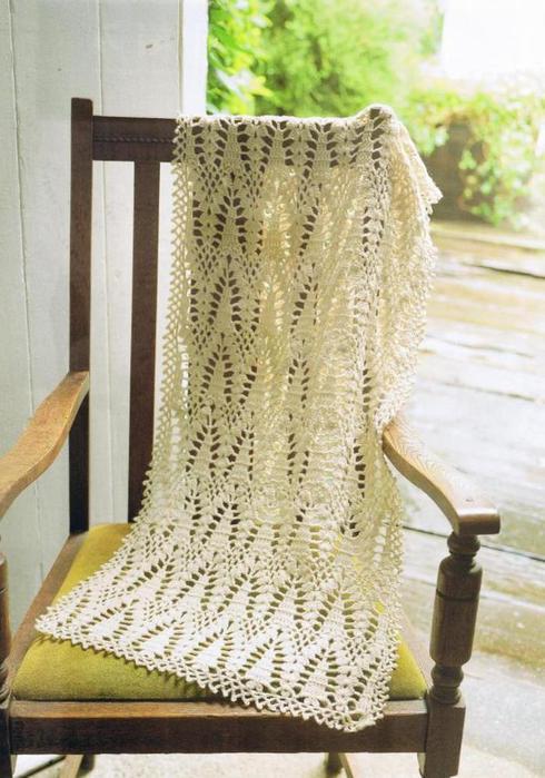 шарф-палантин и юбка по одной схеме.