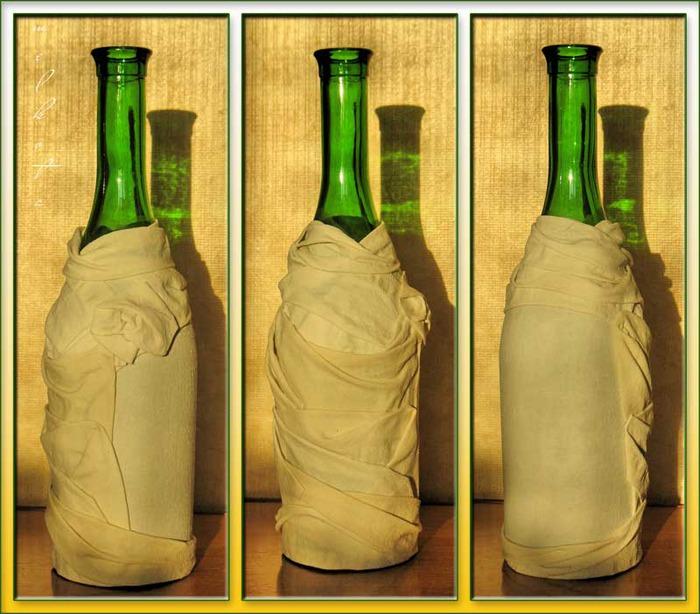 Бутылки ткань своими руками