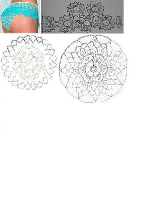 Вязанные трусики крючком(+схема) .