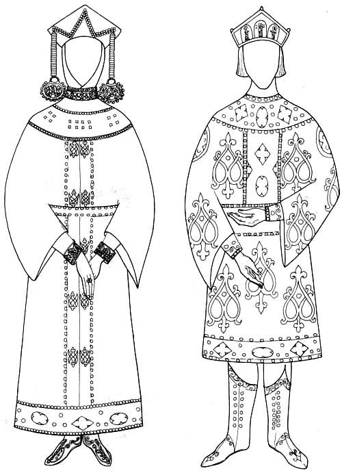 древнерусская женская одежда. интернет детской одежды