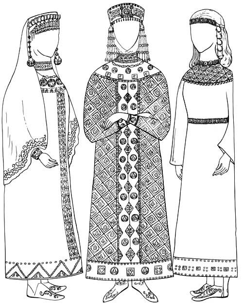 Русский женский костюм. В одежде