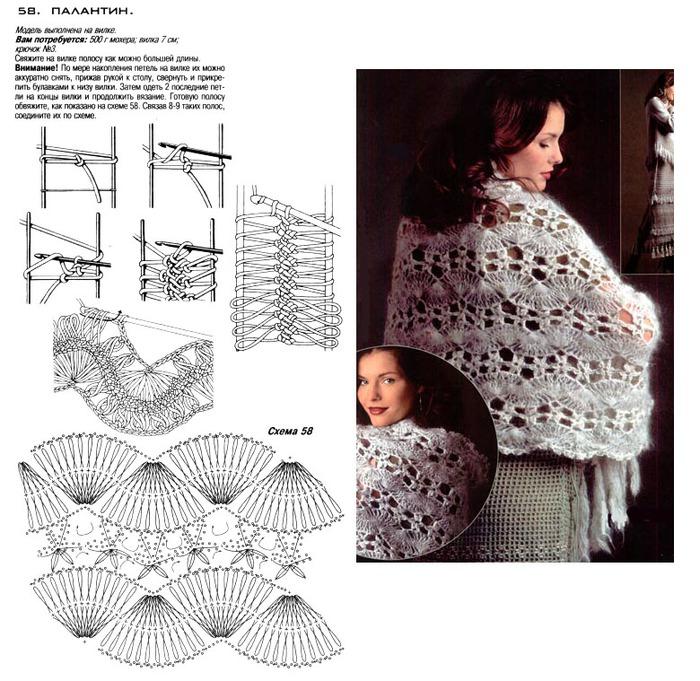Палантины на вилке со схемами и описанием фото8