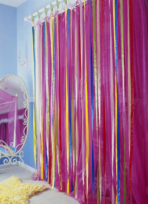 Как сделать шторы лентами 194