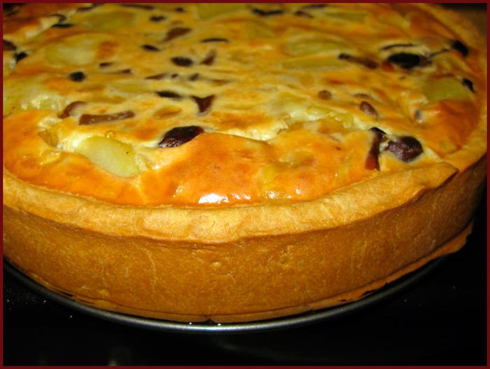 Пирог с картошкой мясом и грибами рецепт с